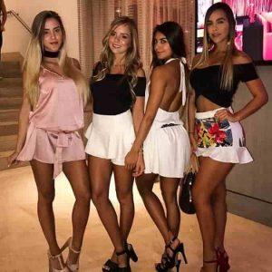 Latin women twirl